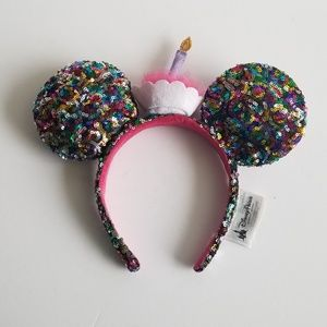 Disney Mickey Mouse Ear Birthday Cupcake Headband